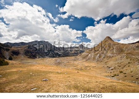 The mountain landscape