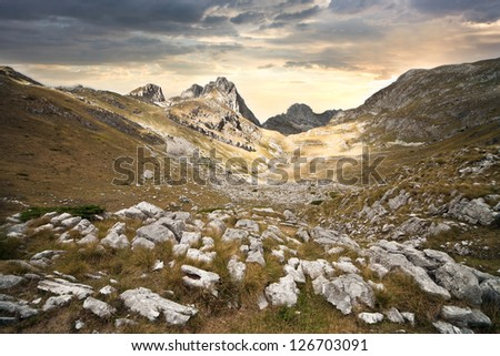 The mountain landscape - stock photo