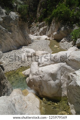 The mountain river. Canyon Goynuk in Taurus Mountains, Turkey.