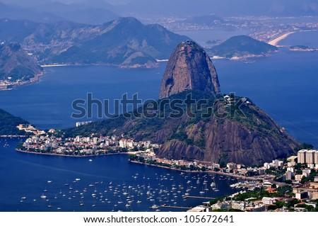 The mountain Sugar Loaf in Rio de Janeiro - stock photo