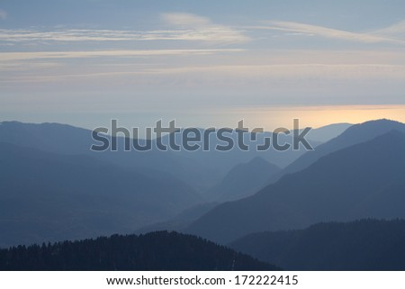 The mountains in Krasnaya Polyana, Sochi, Russia