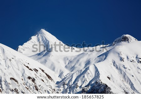 The mountains in Krasnaya Polyana (Sochi, Russia) - stock photo