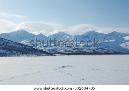 The mountains in winter.