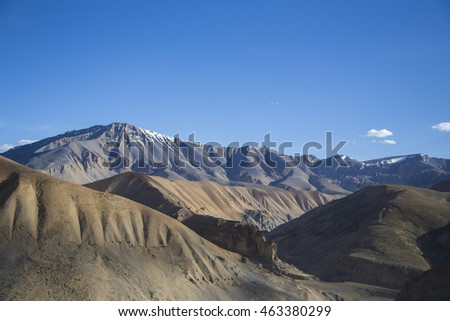 The mountains of Ladakh, India that makes the Himalayan Region