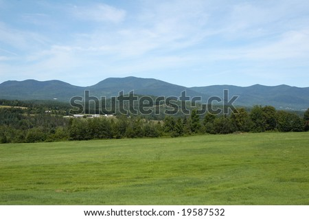 The mountains of New Hampshire in the summer time - stock photo