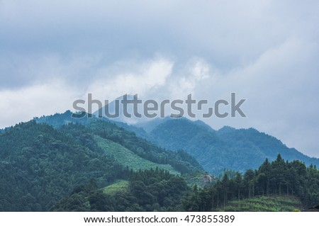 The mountains scenery in summer
