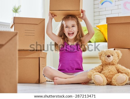 the move to a new home - stock photo