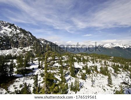 The Mt Shuksan Valley - stock photo