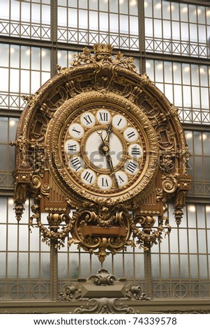 The Musee D'orsay clock in Paris, France