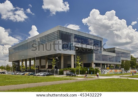 The Museum of Contemporary Art in Zagreb. Zagreb, July 6th, 2016. It is located on Dubrovnik Avenue in Zagreb  and the biggest and most modern museum in the country.