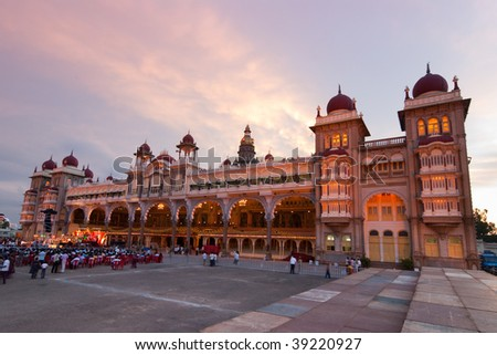 The Mysore Palace in India - stock photo