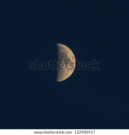 the mystery half moon at the night sky