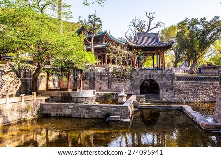 The Nanlao Spring- one of three most famous views in Jinci museum. Jinci is a famous old garden of China. It lies in the southwest of Taiyuan. It is also an interest place of Shanxi.