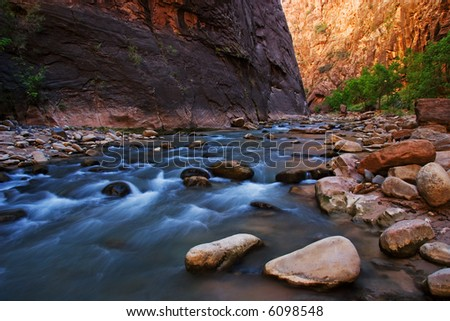 The Narrows at Zion National Park - stock photo