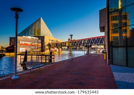 The National Aquarium  at the Inner Harbor in Baltimore, Maryland. - stock photo