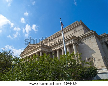 The National Archives Building, Washington, D.C., USA - stock photo