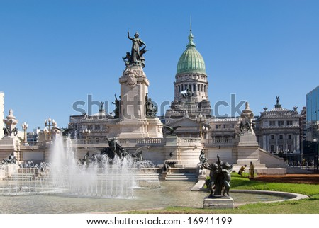 The National Congress in Buenos Aires, Argentina - stock photo