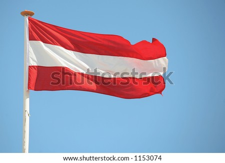 The national flag of Austria - stock photo