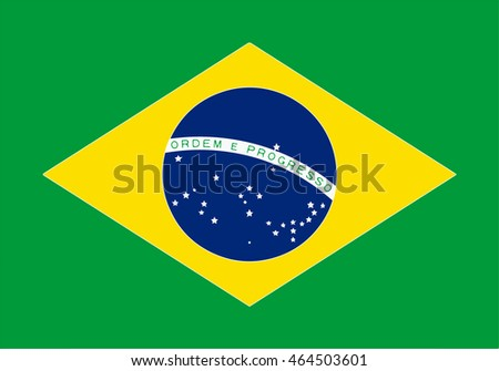 "The national flag of Brazil is a blue disc depicting a starry sky spanned by a curved band inscribed with the national motto ""Order and Progress"", within a gold rhombus, on a green field."