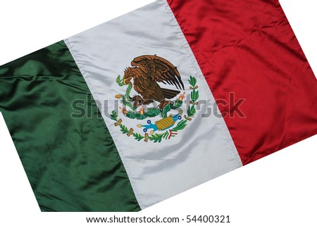 The national flag of Mexico