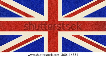 The national flag of the United Kingdom UK aka Union Jack, with paper texture - stock photo