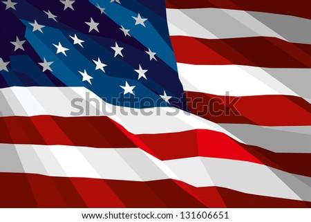 The national flag of USA - stock photo