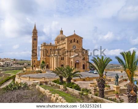 The National Shrine of the Blessed Virgin of Ta' Pinu, Gozo, Malta - stock photo