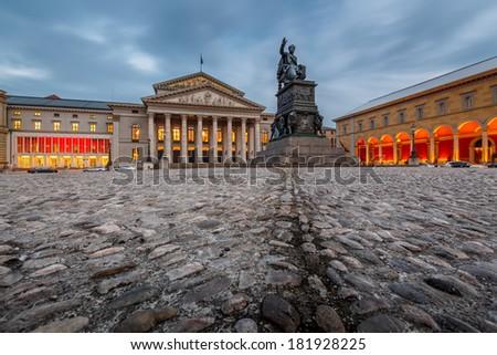 The National Theatre of Munich, Located at Max-Joseph-Platz Square in Munich, Bavaria, Germany - stock photo