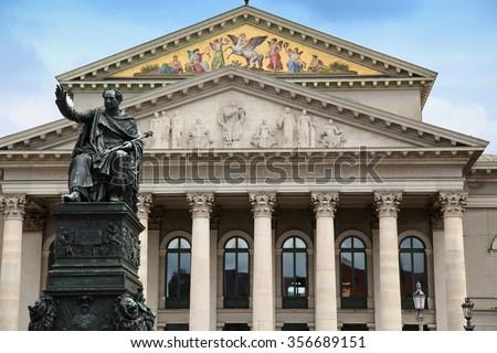 The National Theatre of Munich (Residenztheater) at Max-Joseph-Platz Square in Munich, Germany - stock photo