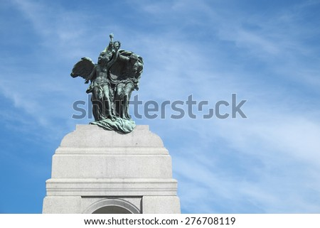 The National War Memorial in Ottawa - stock photo