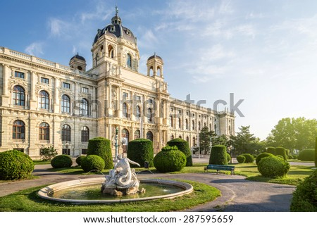 The Natural History Museum in Vienna, Wien, Austria - stock photo