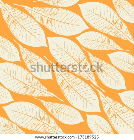 The natural pattern of leaves - stock photo