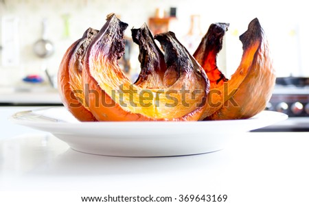 The nature vegetable Pumpkin object. - stock photo