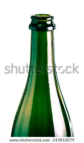 The neck of an empty bottle - stock photo
