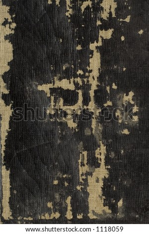 The neglected binding of an old Welsh bible close up. Ideal design background. - stock photo