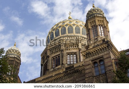 The Neue Synagoge (New Synagogue) in Berlin, Germany