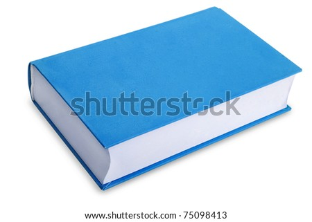 The new book on a white background - stock photo