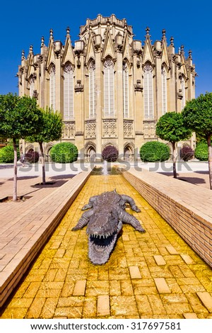 The new Cathedral in Vitoria-Gasteiz, Basque country, Spain. - stock photo
