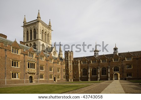 The New Court St John's College at Cambridge University