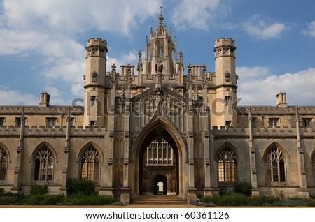 The New Court St John's College at Cambridge University. Cambridge. UK. - stock photo