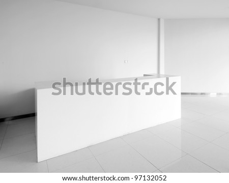 The new hospital lobby, clean and bright. - stock photo