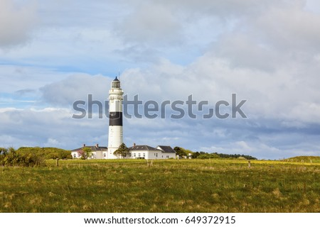 The new lighthouse at Kampen, North Sea island of Sylt, Germany