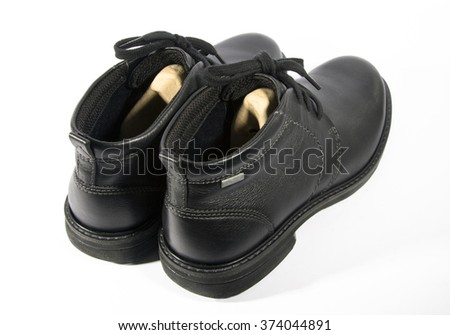 The new men's shoes on a white background
