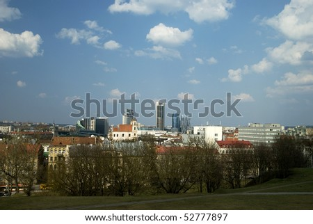 The new modern buildings in Vilnius - the new city