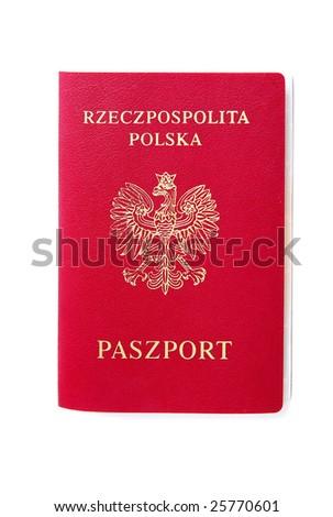 The new polish Passport - stock photo