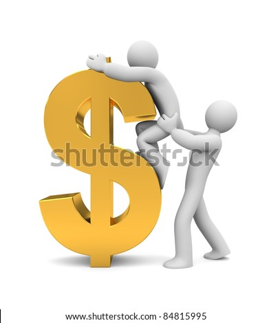 The new profits. Image contain clipping path - stock photo