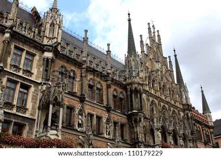 The New Town Hall  Neues Rathaus at Marienplatz in Munich, Bavaria, Germany