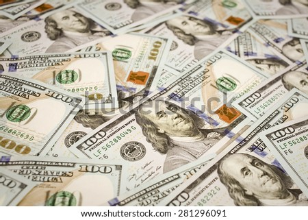 The new U.S. 100 dollar bill - stock photo