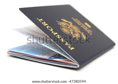 the new us passport - stock photo