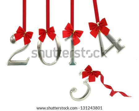 The new year 2014 is coming - stock photo